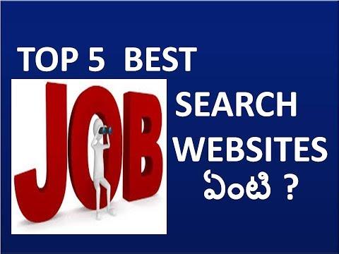 Top 5 job search websites in telugu