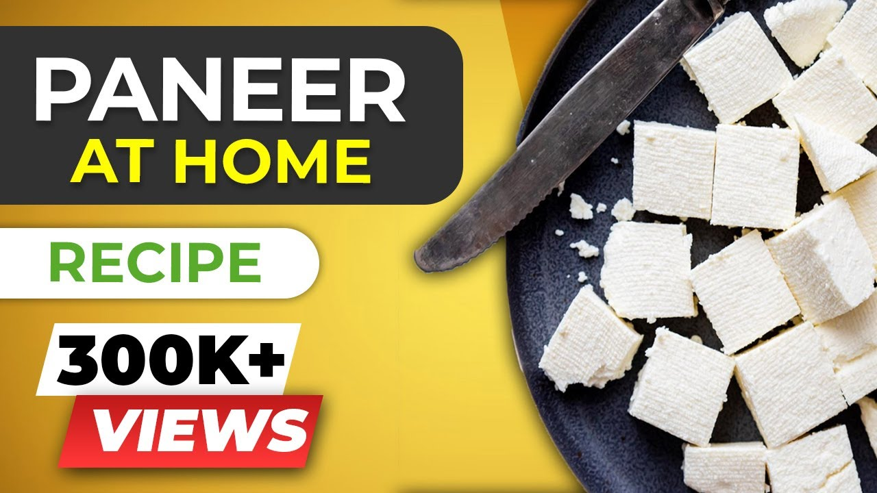 How to make PANEER at home for beginners - Homemade cottage cheese ...