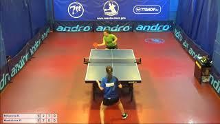 Настольный теннис матч 160618  8  Беляева Елизавета  Меркулова Диана