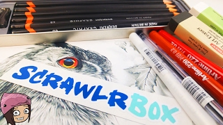 UNBOXING ART SUPPLIES  Sketchbook Scrawlrbox Jan 2017 subscription box NerdEcrafter Montreal vlogger