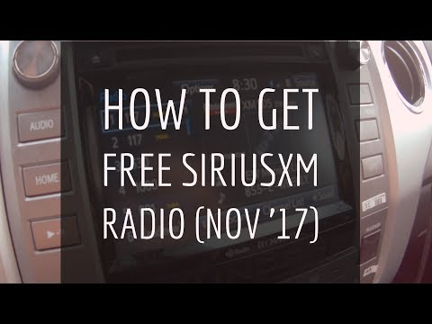 Free Sirius XM Radio 2017 (No Credit Card Sign Up Method)