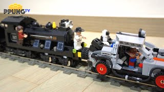 LEGO Back to the Future DELOREAN 21103 & Train Crash by 뿡대디