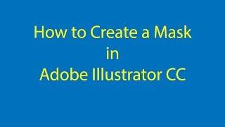 2019 Adobe Illustrator CC bir Maske Oluşturmak için nasıl