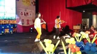 Konser Kangen Lagu Anak- Duet Violinist Fakhri Violin dan Clarissa Tamara