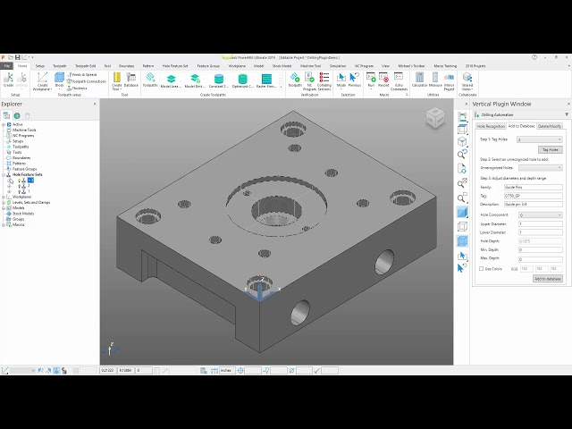 New Drilling Automation Plugin for Autodesk PowerMill 2019