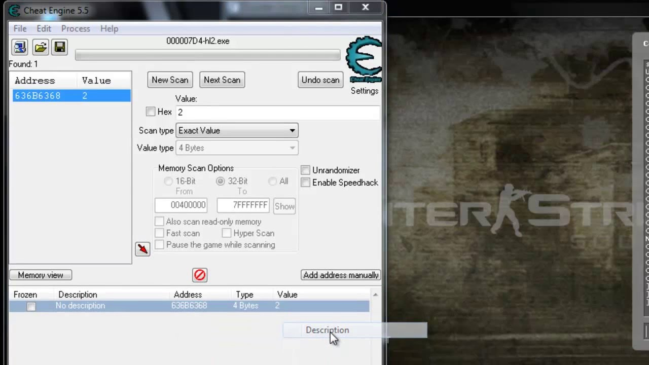 Results for cheat engine 5.5