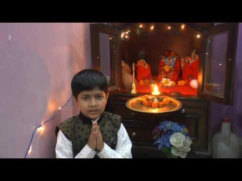 7 year old cute boy singing shiv tandav shlok