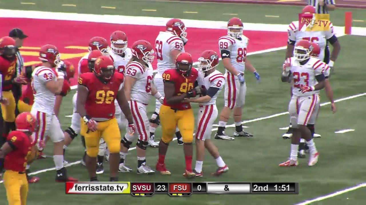 Ferris State Bulldogs Vs Saginaw Valley Cardinals 10 5 2013 Youtube
