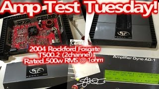 Amp Test Tuesday - Classic 2004 Rockford Fosgate T500.2 Rated 500 watts RMS - SMD AD-1 Amp Dyno