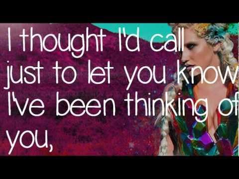 Kesha: Thinking Of You Lyrics