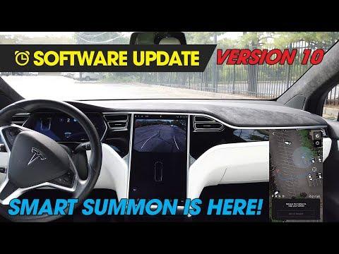 Tesla V10 - Smart Summon Review