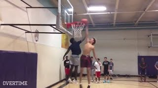 LaMelo Ball LIVES IN THE GYM! Nasty Dunks & SQUAD TOO FUNNY!