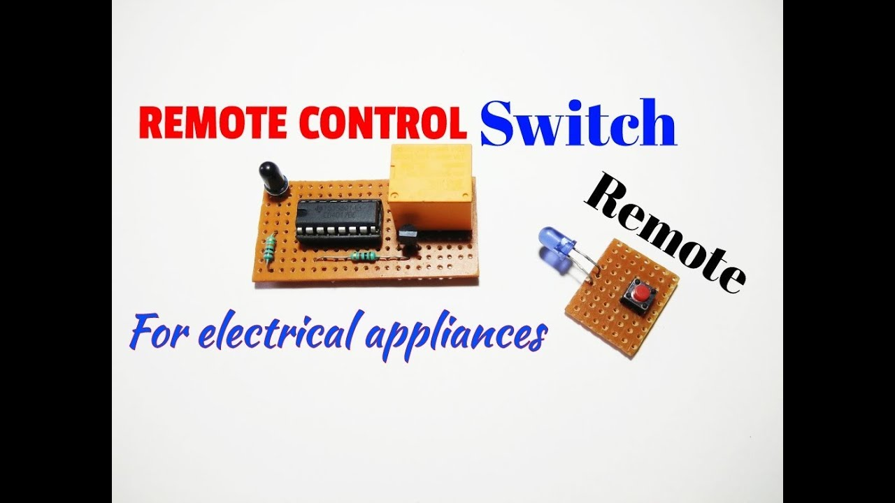 Remote Control Switchremote Switch Circuit For On Off Light And Simple Home Appliances Diagram Fan By Remoteremote