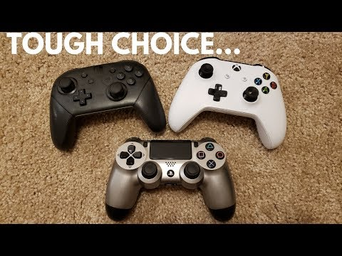 Xbox One vs PS4 vs Switch Pro Controller... WHICH IS THE BEST??