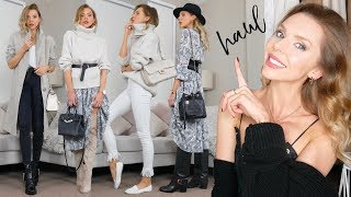 HAUL & TRY ON // October 2018 // Marks & Spencer Autumn knitwear & coats!
