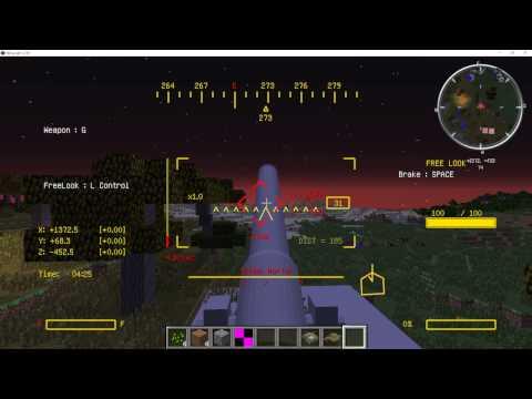 【minecraft】 914mm榴弾を村に撃つ!/リトル・デーヴィッド【MCヘリ】