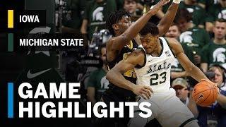 Highlights: Iowa at Michigan State | Big Ten Basketball