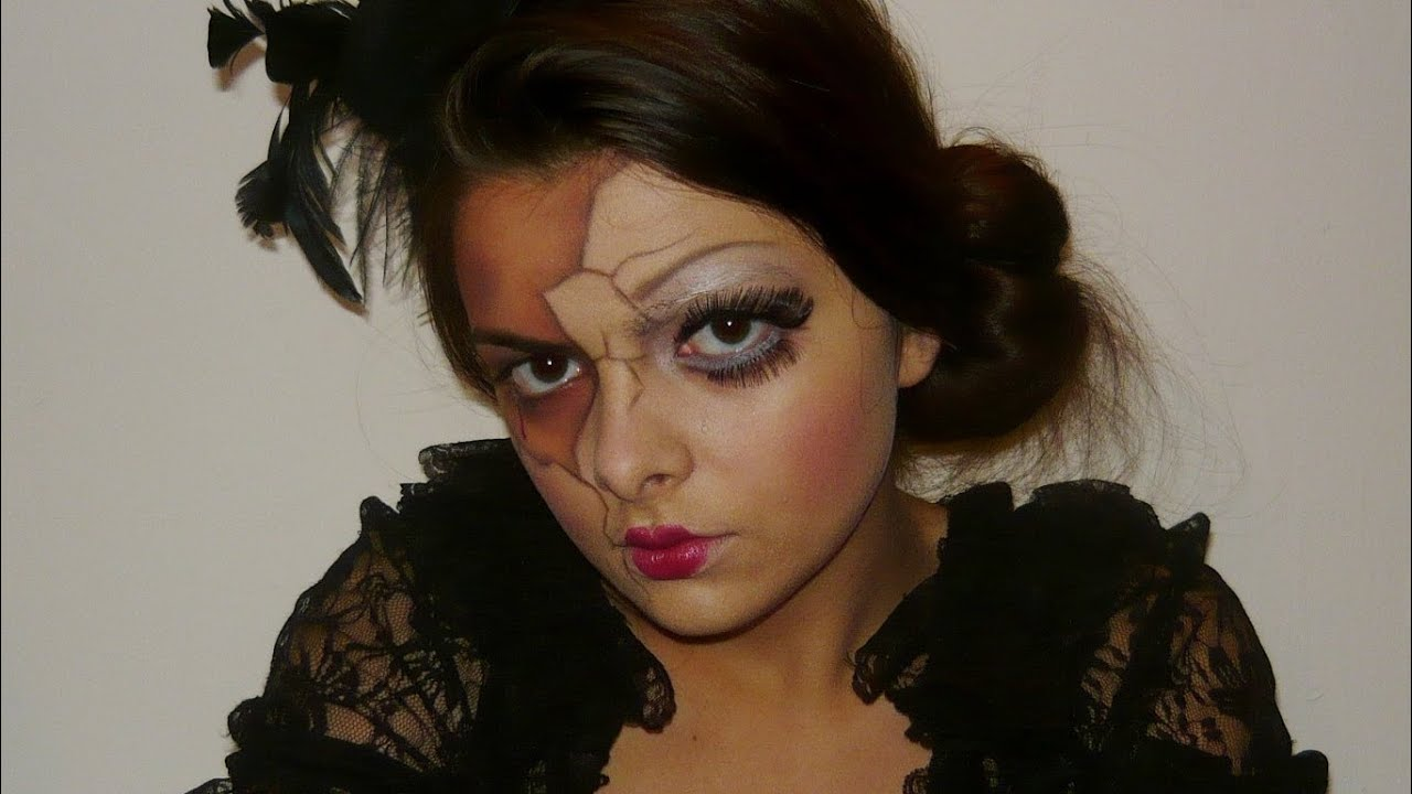 broken porcelain doll | halloween makeup tutorial - youtube