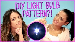 Niki and Gabi DIY Light Bulb Art?! | Niki and Gabi DIY or DI-Don