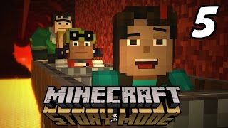 "Minecraft: Story Mode ""NETHER RAIL RIDE!"" Episode 1 Walkthrough (Part 5)"