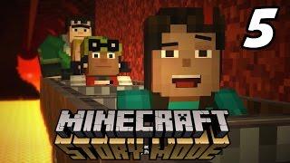 "Minecraft: Story Mode ""NETHER RAIL RIDE!"" Episode 1 Walkthrough (Part 5)"