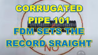Corrugated Pipe 101 - The French Drain Man Sets the Record Straight