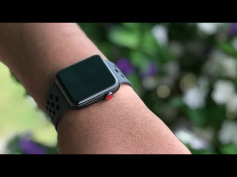 de698eed163af9 UNBOXING 42mm Apple Watch Series 3 Nike+ Space Grey Anthracite Black Nike  Sport Band