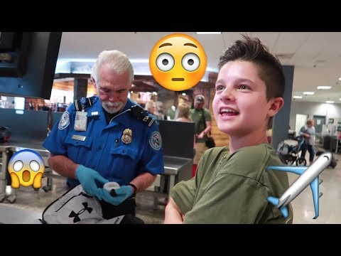 He got in trouble by TSA airport security! | Brock and Boston