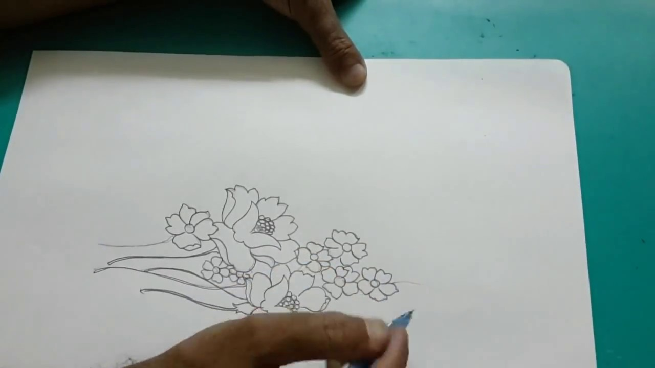 Simple flower designs for pencil drawing