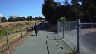 Iron Horse Trail Concord CA to Marsh to Monument ContourHD 1080p Bicycle Helmet Cam 8-5-2010 Part 1
