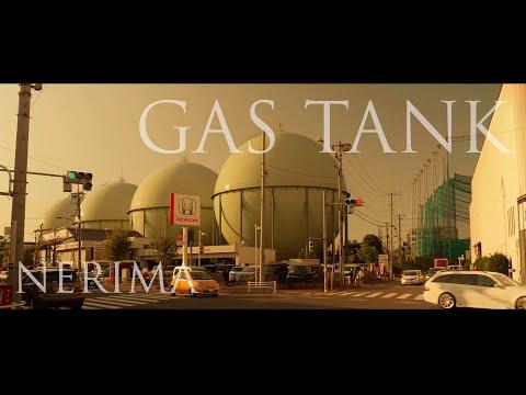 ガスタンク、そして石神井川。オレンジの夕日に向かって、歩く【BGMのみの動画】 Sunset, Shakujii-River, TOKYO.