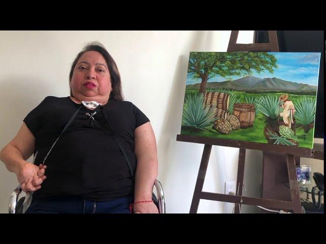 La pintora pintora boca-pie de Cuernavaca