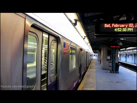 IRT Subway: R142A (6) Train Ends and Begins at Pelham Bay Park Terminal