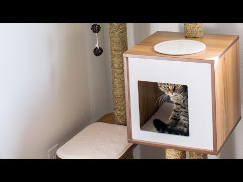 """Setup and Review of Our Vesper 47"""" Cat Tree"""