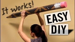 How to Make a Huge Pencil - Make it Really Draw Too - Easy DIY
