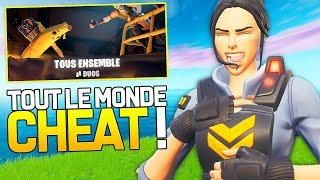 "ALL THE WORLD CHEAT IN THE NEW MODE ""ALL ENSEMBLE"" ON FORTNITE!"