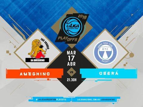 #LaLigaArgentina | PlayOff | Juego 3 | 17.04.2018 Ameghino vs. Oberá Tenis Club