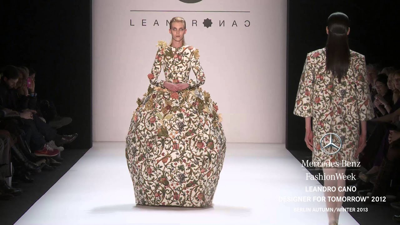 Leandro Cano Designer For Tomorrow 2012 Full Show Mercedes Benz Fashion Week Berlin A W 2013 Youtube