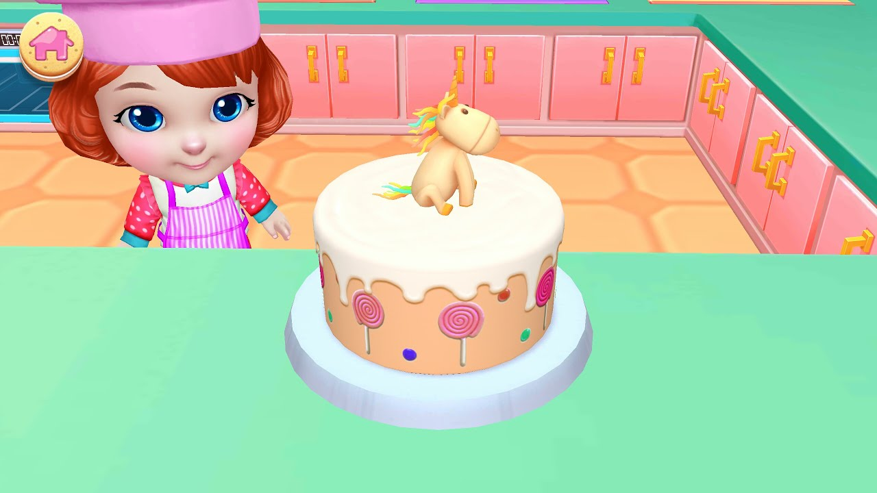 Cake Cartoon For Children💗bake Decorate Amp Serve Cakes