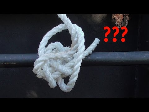The Knot To Tie If You're Useless At Tying Knots