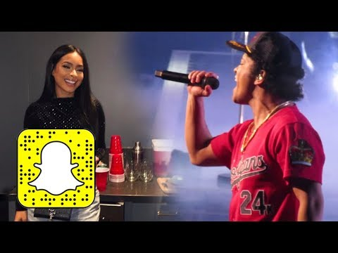 SNAPCHAT | Jessica Caban At The Bruno Mars Concert In LA
