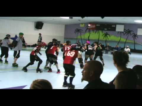 South Central Roller Girls-- Black Heart Queens vs. Red River Roller Derby