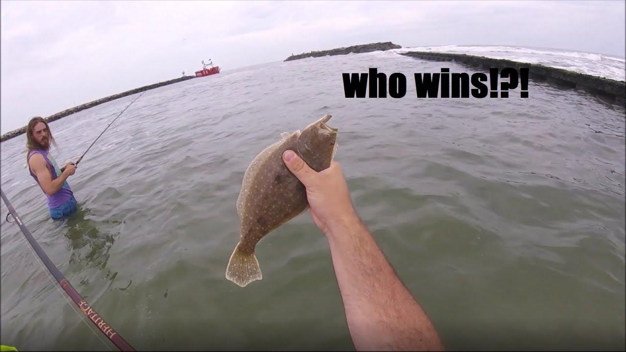 Flounder fishing challenge virginia beach va rudee for Rudee inlet fishing report