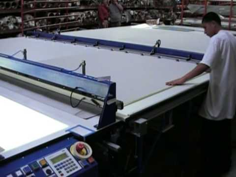 Sani USA .com Roller Shade Cutting Table Auto Feed and