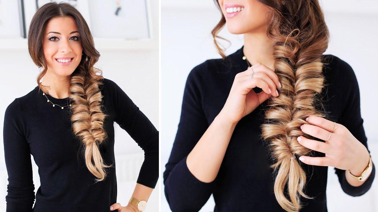 Faux Fishtail Braid   Luxy Hair - YouTube