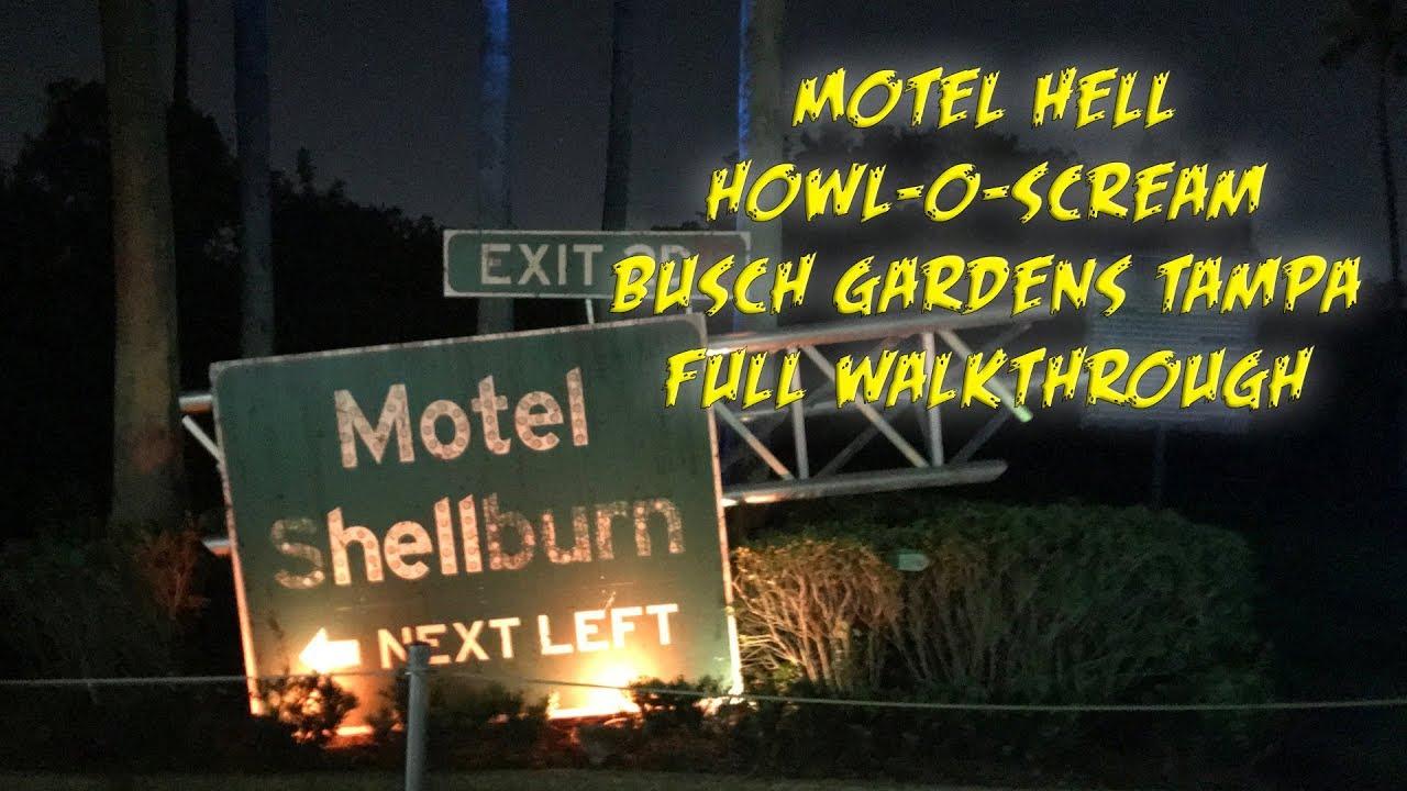 Howl O Scream 2017 Motel Hell Full Walkthrough Busch Gardens Tampa Youtube