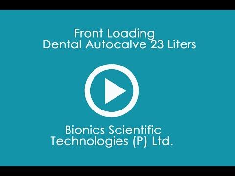 Front Loading Dental Autocalve 23 Liters