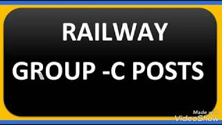 RAILWAY GROUP C POSTS DETAILS..