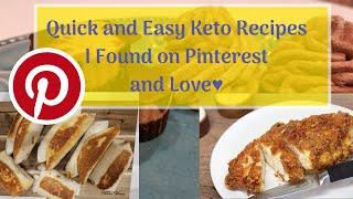Quick and Easy Keto Recipes I found on Pinterest and Love