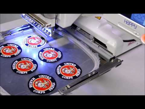 2 of 2: Mass-Producing patches with your HAPPY embroidery machine
